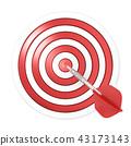 Dart hitting a target, 3D 43173143
