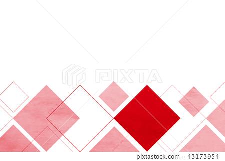 日本纸红色和白色卡片背景 43173954