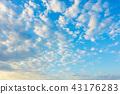 วัสดุพื้นหลังท้องฟ้าพระอาทิตย์ตกท้องฟ้าสีฟ้าเมฆ 43176283
