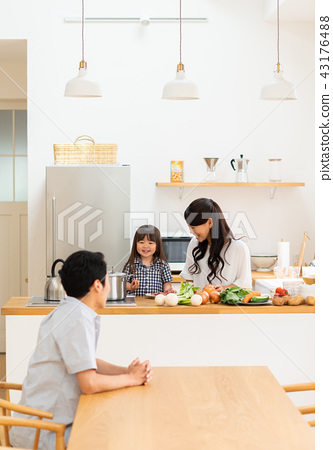 family kitchen kitchens stock photo 43176488 pixta