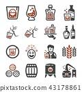 whisky icon 43178861