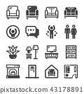 living room icon 43178891