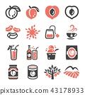 peach, icon, logo 43178933