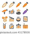 carrot icon 43178936