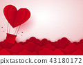 Valentines day , Hot air balloon in a heart shape 43180172