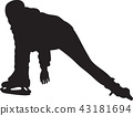 ice skating silhouette vector 43181694
