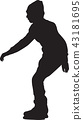 ice skating silhouette vector 43181695