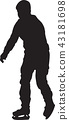 ice skating silhouette vector 43181698