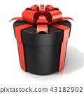 Black cylinder gift box isolated 43182902
