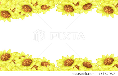 Border with sunflowers. 43182937