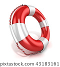 Lifebuoy isolated 43183161