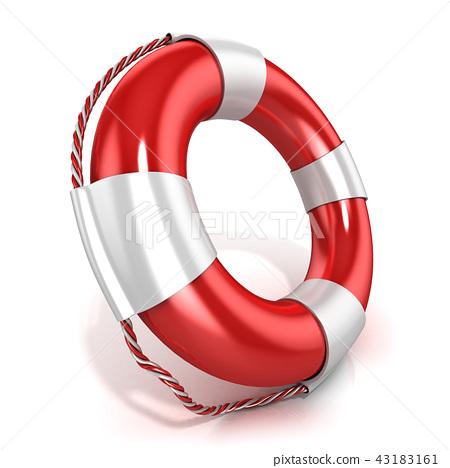 Lifebuoy isolated 43183161