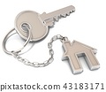 House door key and house key-chain 43183171