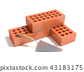 Concept of building the brick wall 43183175