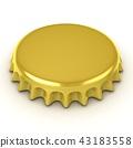 Bottle cap, isolated 43183558
