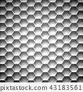 Black and white honeycomb. Abstract background. 3D 43183561