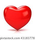 Big red heart. 3D 43183778