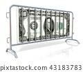 Steel and dollar barricades 43183783