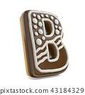 3d, gingerbread, alphabet 43184329
