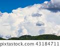 여름의 푸른 하늘 43184711