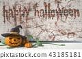 Happy Halloween greeting Jack O Lantern pumpkin 43185181