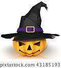 Funny Jack O Lantern. Halloween pumpkin 43185193