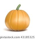 Pumpkin 3D render illustration 43185325