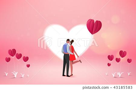 sweet couple on honeymoon vacation summer 43185583