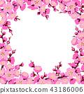 Spring Tree Blossom Square Frame 43186006