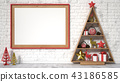 Picture frame, Christmas decoration and gifts. 3D 43186585
