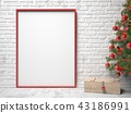 Picture frame, Christmas decoration and wooden box 43186991