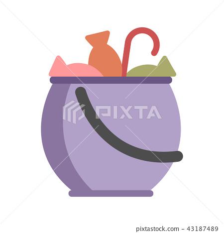 Candy Jar Flat illustration 43187489