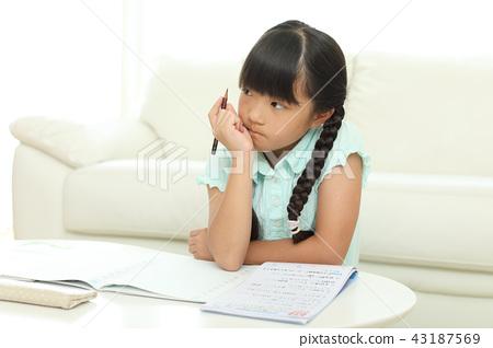 做功課的女孩 43187569