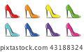 women's shoes colorful high heel fashion 43188324