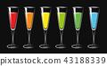 colorful cocktail drink glasses set 43188339