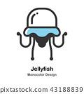 Jellyfish Monocolor Illustration 43188839