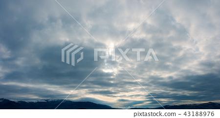 dark gloomy overcast sky 43188976