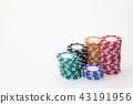 賭場 錢幣 顆粒 43191956