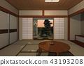 일본식 툇마루 43193208
