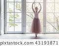 Young ballet dancer in dance class 43193871