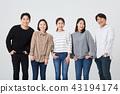 친구,동료,남자,여자,한국인 43194174