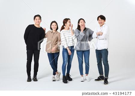 친구,동료,남자,여자,한국인 43194177