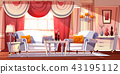 Lounge room luxury interior vector illustration 43195112