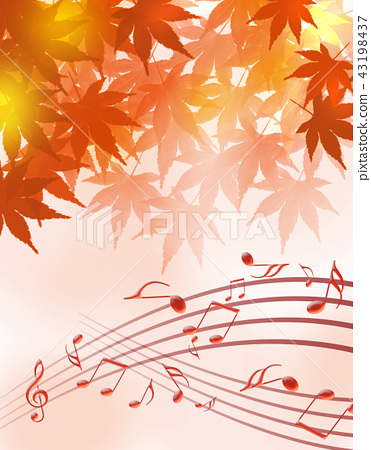 Music score music concert autumn leaves autumn music score 43198437