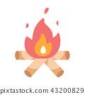 Campfire flat illustration 43200829
