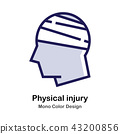Physical Injury mono color icon 43200856