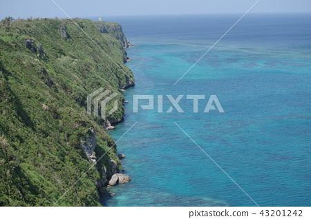 Sea of superb view of Irabu Island 43201242