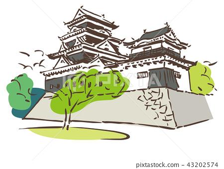 Ehime Prefecture Ozu City / Osu Castle 43202574