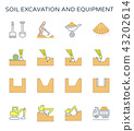 soil excavation icon 43202614