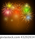 Colorful fireworks for celebration 43202634